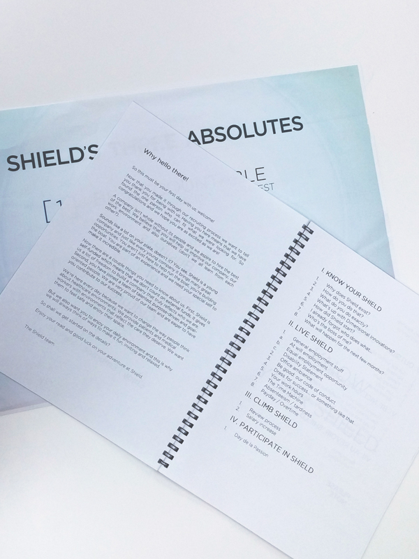 Shield employee handbook