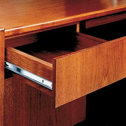 Side Mounts Are More Frequently Exposed To Dust And Grime When Drawers Opened Whereas