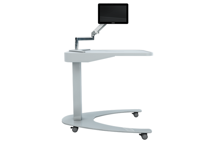 Overbed tables are one of the many products that improve safety and workflow in healthcare facilities.